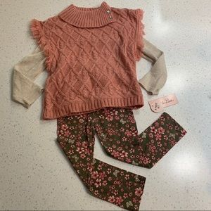Little Lass sweater leggings outfit